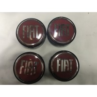Fiat Palio 1998+ гг. Колпачки в титановые диски 55 мм (4 шт)