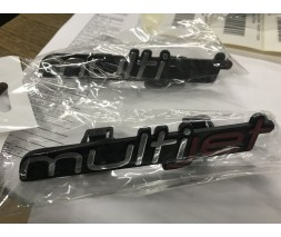 Fiat Panda 2003-2011 гг. Значек Multijet (на защелках) JET - темнокрасный