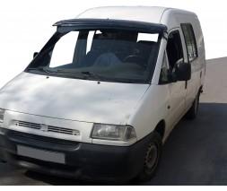 Fiat Scudo 1996-2007 гг. Козырек на лобовое стекло (черный глянец, 5мм)