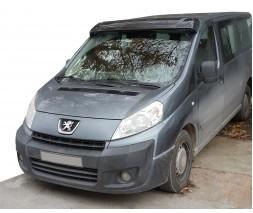 Fiat Scudo 2007-2015 гг. Козырек на лобовое стекло (черный глянец, 5мм)