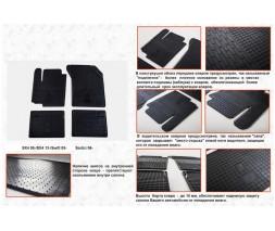 Fiat Sedici 2006↗ гг. Резиновые коврики (4 шт, Stingray Premium)