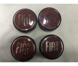 Fiat Siena 1998+ гг. Колпачки в титановые диски 55 мм (4 шт)