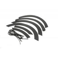 Накладки на арки (4 шт, черные, ABS) для Fiat Talento 2016+