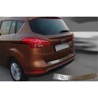 Накладка на задний бампер OmsaLine (нерж.) для Ford B-Max 2012+