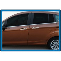 Накладки на ручки (4 шт, нерж.) OmsaLine - Итальянская нержавейка для Ford B-Max 2012+