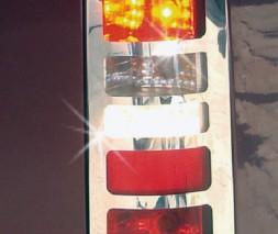 Ford Connect 2002-2006 гг. Накладка на стопы (2 шт, нерж.) Carmos - Турецкая сталь
