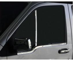 Ford Connect 2010-2013 гг. Накладка на окно-стойку (2 шт, нерж.) OmsaLine - Итальянская нержавейка