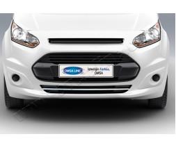 Ford Connect 2014+ гг. Накладки на передний бампер (1 шт, нерж)