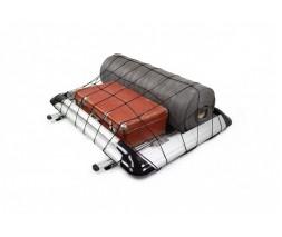 Ford Courier 2014+ гг. Багажник с поперечинами и сеткой (110см на 145см) Серый