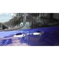 Накладки на ручки (4 шт., нерж.) OmsaLine - Итальянская нержавейка для Ford Courier 2014+
