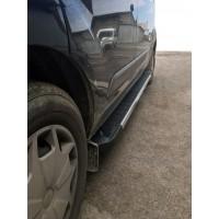 Ford Custom 2013+ Боковые пороги RedLine V1 (2 шт., алюминий) Короткая база
