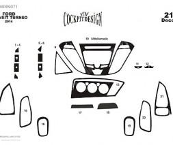 Ford Custom 2013↗ гг. Накладки на панель Дерево