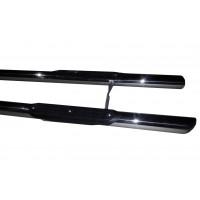 Боковые трубы (2 шт., нерж.) 51 мм, Длинная база для Ford Custom 2013+