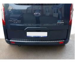 Ford Custom 2013+ гг. Накладка на задний бампер OmsaLine (нерж.) Матовый оттенок