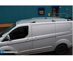 Ford Custom 2013+ гг. Рейлинги OmsaLine Sport (2 шт, серые) Длинная база