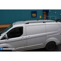 Рейлинги OmsaLine Sport (2 шт, черные) Короткая база для Ford Custom 2013+