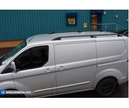 Ford Custom 2013+ гг. Рейлинги OmsaLine Sport (2 шт, черные) Короткая база