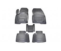 Ford Edge Резиновые коврики с бортом 2016-2021 (Autogumm)