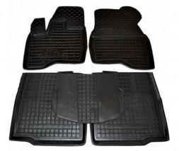 Ford Explorer 2011-2019 гг. Резиновые коврики с бортом 2014-2021 (Autogumm)