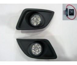 Ford Fiesta 2002-2008 гг. Противотуманки LED (диодные) 2006-2008