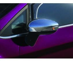 Ford Fiesta 2008-2017 гг. Накладки на зеркала (2 шт, пласт) OmsaLine - Турция