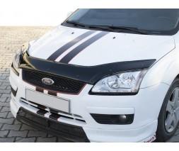 Ford Focus II 2005-2008 гг. Дефлектор капота EuroCap
