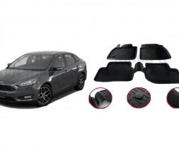 Ford Focus III 2011-2017 гг. Резиновые коврики (4 шт, Niken 3D)