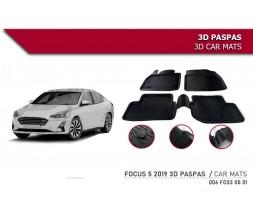 Ford Focus IV 2018+ гг. Резиновые коврики (4 шт, Niken 3D)