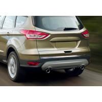 Кромка багажника (нерж.) OmsaLine - Итальянская нержавейка для Ford Kuga/Escape 2013-2019