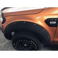 Ford Ranger 2011+ гг. Расширители колесных арок (на болтах)