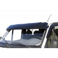 Козырек на лобовое стекло (черный глянец, 5мм) для Ford Transit 1991-2000