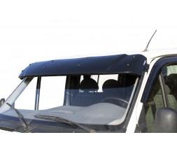 Ford Transit 1991-2000 гг. Козырек на лобовое стекло (черный глянец, 5мм)