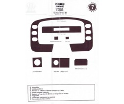 Ford Transit 1991-2000 гг. Накладки на панель (1994-1997) Дерево
