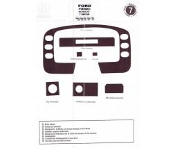Ford Transit 1991-2000 гг. Накладки на панель (1994-1997) Алюминий