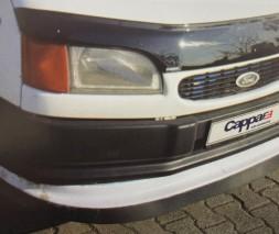 Ford Transit 1991-2000 гг. Накладка на передний бампер ЛИП (черная)