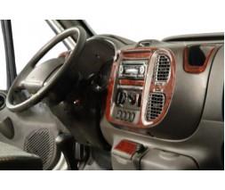 Ford Transit 2000-2014 гг. Накладки на панель (2000-2006 года) Алюминий