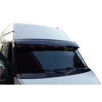 Козырек на лобовое стекло (черный глянец, 5мм) для Ford Transit 2000-2014