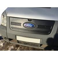 Зимняя накладка на решетку (2006-2014) Глянцевая для Ford Transit 2000-2014