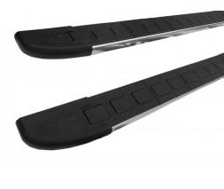 Ford Transit 2014↗ гг. Боковые пороги Duru (2 шт., алюминий) Короткая база
