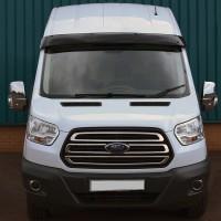 Козырек на лобовое стекло (черный глянец, 5мм) для Ford Transit 2014+