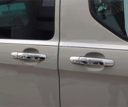 Ford Transit 2014↗ гг. Накладки на ручки (нерж) 5 ручек