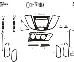 Ford Transit 2014↗ гг. Накладки на панель Дерево