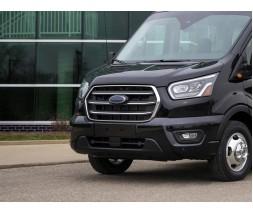 Ford Transit 2014+ гг. Накладки на решетку (2019+, 4 шт, нерж) OmsaLine - Итальянская нержавейка