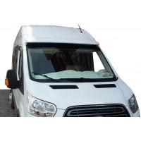 Козырек на лобовое стекло (на клей, под покраску) для Ford Transit 2014+