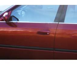 Honda Civic Sedan VII 2001-2006 гг. Наружняя окантовка стекол (4 шт, нерж)
