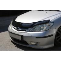Дефлектор капота (EuroCap) для Honda Civic Sedan VII 2001-2006