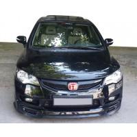Накладка на передний бампер ЛИП (черная) для Honda Civic Sedan VIII 2006-2011