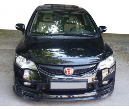Honda Civic Sedan VIII 2006-2011 гг. Накладка на передний бампер ЛИП (черная)