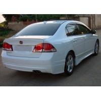 Накладка на задний бампер (под покраску) для Honda Civic Sedan VIII 2006-2011