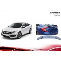 Спойлер Niken V2 (под покраску) для Honda Civic Sedan X 2016+